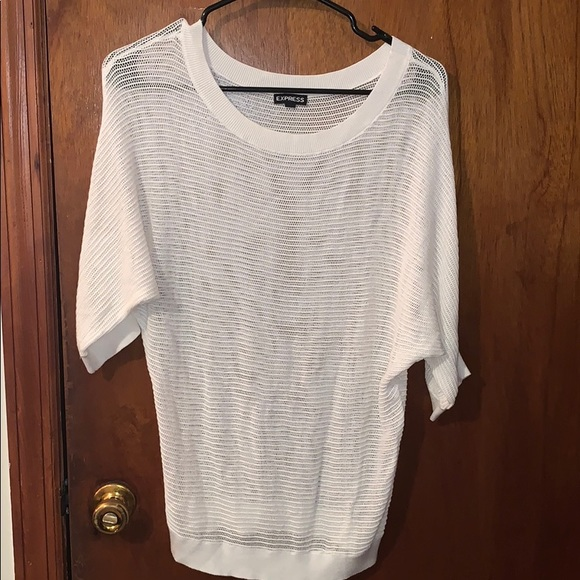 Express Sweaters - White express sweater
